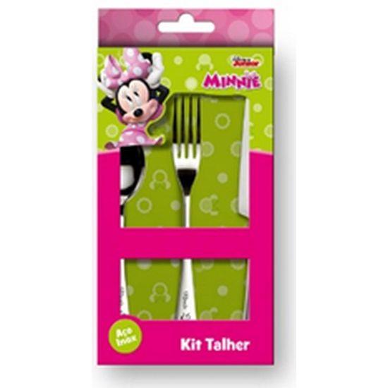 Conjunto de Talheres Infantil Minnie 3 Pecas