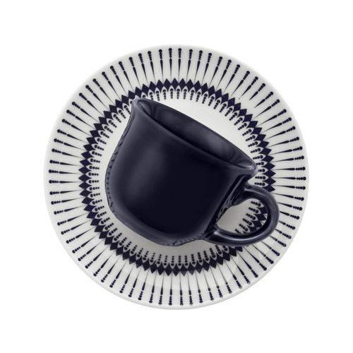 Conjunto de Xícaras de Chá Oxford Colb Azul 12 Peças