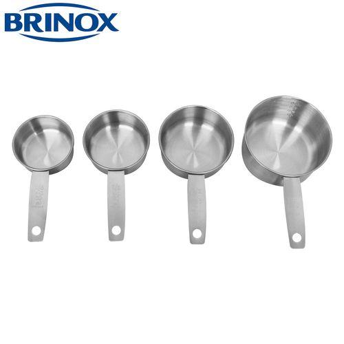 Conjunto de Xícaras Medidoras em Inox 4 Peças - Brinox