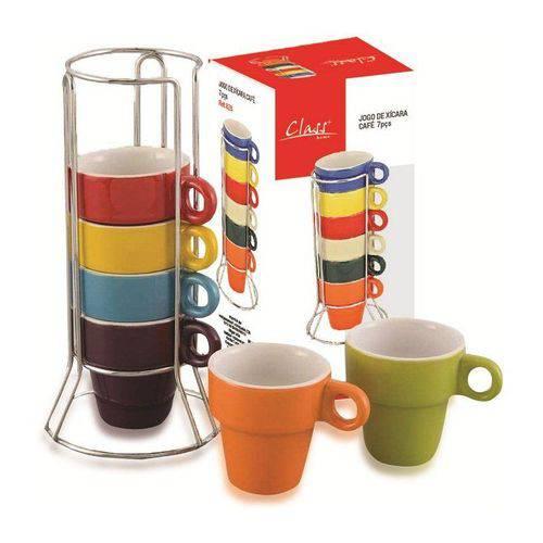 Conjunto de Xícaras para Café 7 Peças Colorido 828 Class