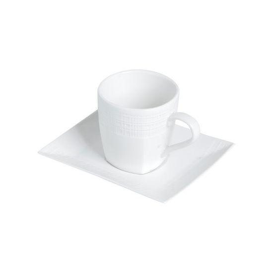 Conjunto de Xícaras para Chá Square de Porcelana Super White 6 Peças 200 Ml