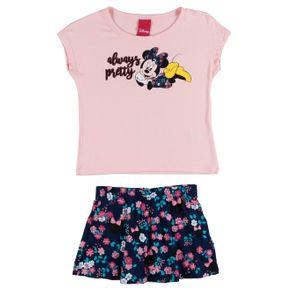 Conjunto Disney Infantil para Menina - Rosa/marinho 1