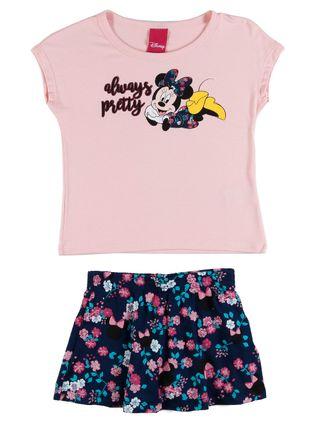 Conjunto Disney Infantil para Menina - Rosa/marinho