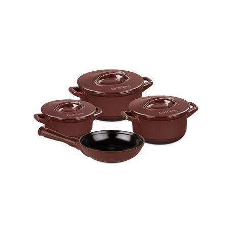 Conjunto Duo+ 4 Peças - Chocolate