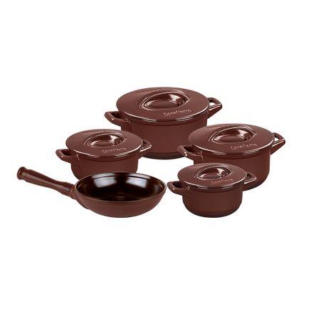 Conjunto Duo+ 5 Peças - Chocolate