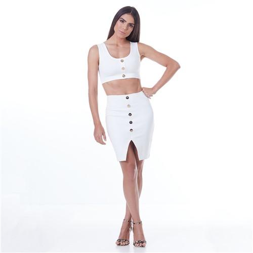 Conjunto Feminino Labellamafia Off White