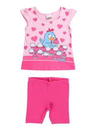 Conjunto Galinha Pintadinha Infantil para Bebê Menina - Rosa