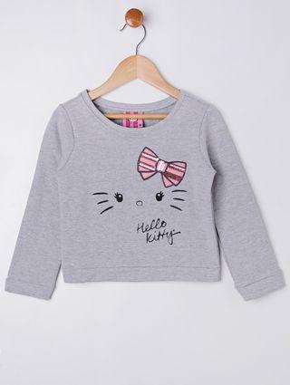 Conjunto Hello Kitty Infantil para Menina - Cinza/rosa