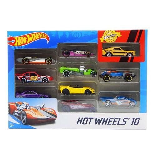 Conjunto Hot Wheels Pacote com 10 Carros Sortidos MATTEL