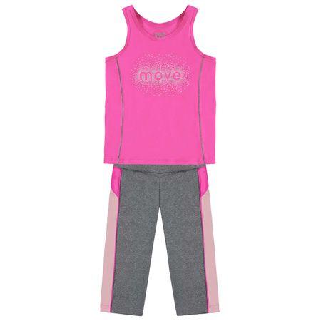 Conjunto Infantil Feminino Regata + Legging Kyly Moving 109589.40064.4