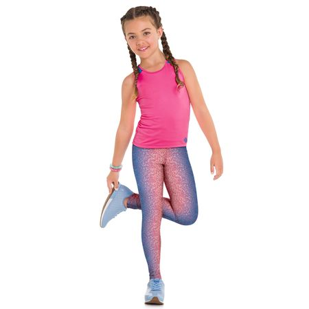 Conjunto Infantil Feminino Regata + Legging Kyly Moving 109802.0484.10