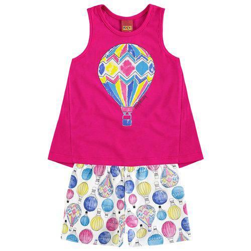 Conjunto Infantil Feminino Rosa Balão Kyly