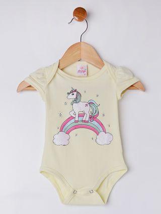 Conjunto Infantil para Bebê Menina - Amarelo/cinza