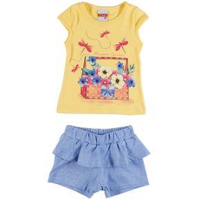 Conjunto Infantil para Bebê Menina - Amarelo G