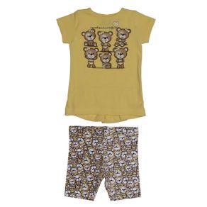 Conjunto Infantil para Bebê Menina - Amarelo M