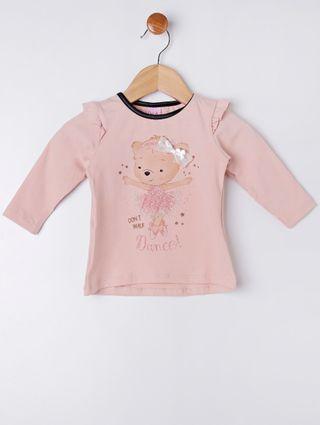 Conjunto Infantil para Bebê Menina - Bege/preto