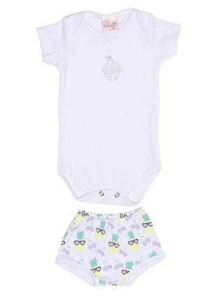 Conjunto Infantil para Bebê Menina - Branco