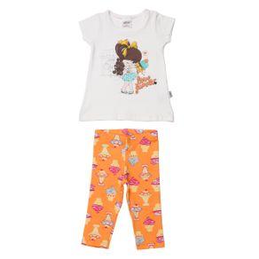 Conjunto Infantil para Bebê Menina - Off White P