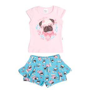 Conjunto Infantil para Bebê Menina - Rosa/azul P