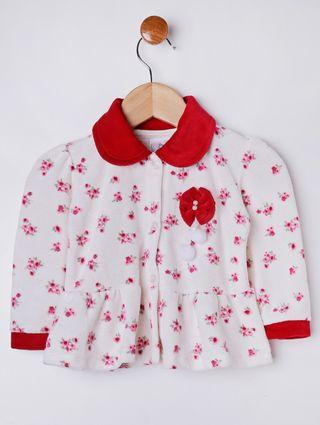 Conjunto Infantil para Bebê Menina - Vermelho/bege