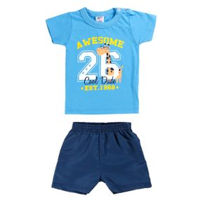 Conjunto Infantil para Bebê Menino - Azul G