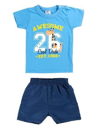 Conjunto Infantil para Bebê Menino - Azul