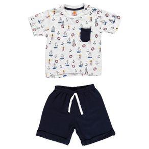 Conjunto Infantil para Bebê Menino - Cinza G