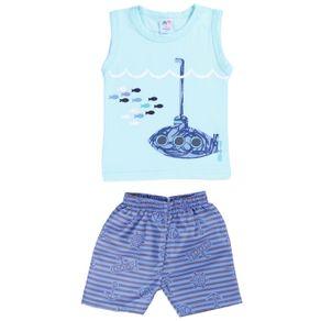 Conjunto Infantil para Bebê Menino - Verde/azul M