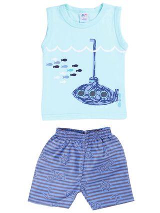 Conjunto Infantil para Bebê Menino - Verde/azul
