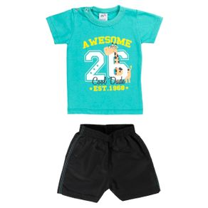 Conjunto Infantil para Bebê Menino - Verde M