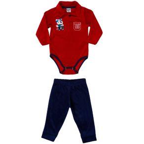 Conjunto Infantil para Bebê Menino - Vermelho/azul Marinho G