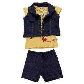 Conjunto Infantil para Menina - Amarelo 2