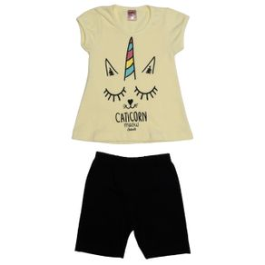 Conjunto Infantil para Menina - Amarelo/preto 3