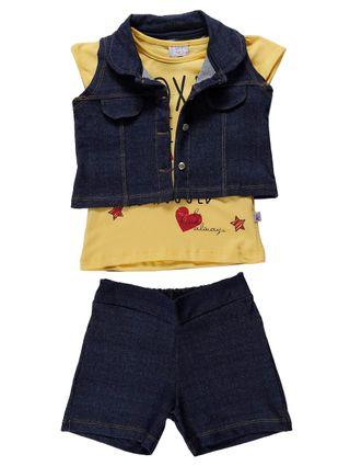 Conjunto Infantil para Menina - Amarelo