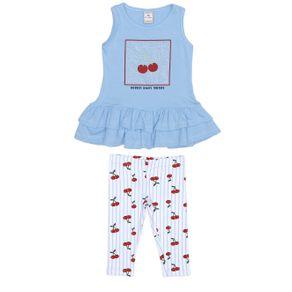 Conjunto Infantil para Menina - Azul/branco 3