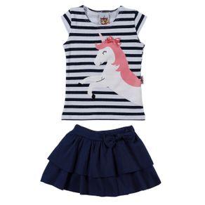 Conjunto Infantil para Menina - Azul Marinho 2
