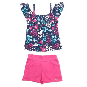 Conjunto Infantil para Menina - Azul Marinho 4