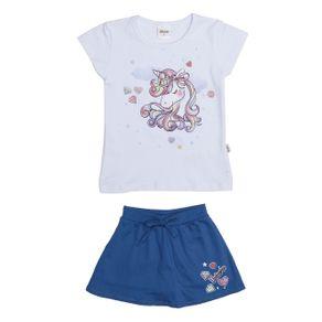 Conjunto Infantil para Menina - Branco/azul 4