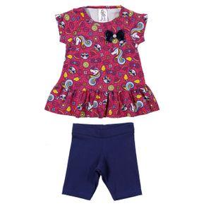 Conjunto Infantil para Menina - Rosa/marinho 6