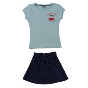 Conjunto Infantil para Menina - Verde/azul Marinho 6