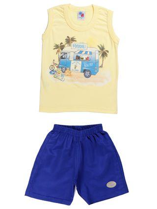 Conjunto Infantil para Menino - Amarelo/azul