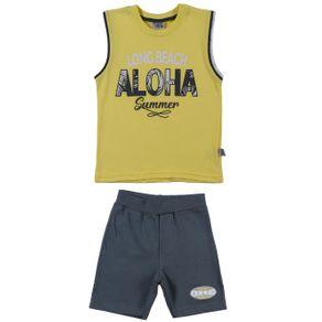 Conjunto Infantil para Menino - Amarelo/cinza 1
