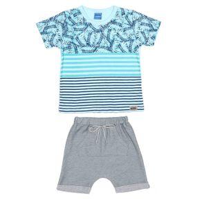 Conjunto Infantil para Menino - Azul/cinza 2