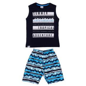 Conjunto Infantil para Menino - Azul Marinho 10