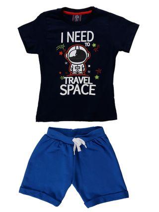 Conjunto Infantil para Menino - Azul Marinho/azul