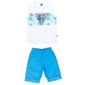 Conjunto Infantil para Menino - Branco/azul 10