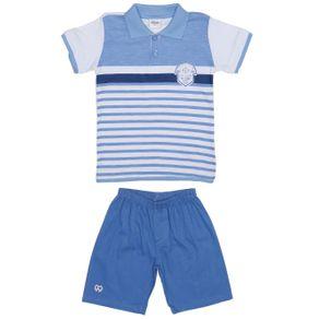 Conjunto Infantil para Menino - Branco/azul 1
