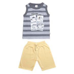 Conjunto Infantil para Menino - Cinza/amarelo 2