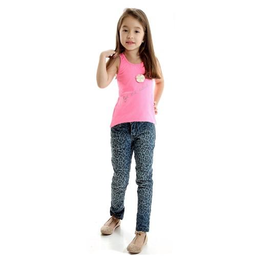 Conjunto Infantil Regata Pink e Calça Jeans Panther 4