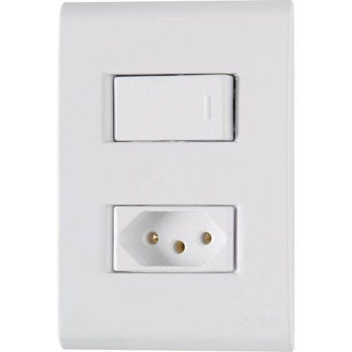 Conjunto Interruptor Simples + Tomada 2P+T Liz - 57170064 - TRAMONTINA